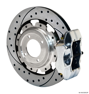 Wilwood Narrow Dynalite Rear Inboard Rear Brake Kit - Polish Caliper - SRP Drilled & Slotted Rotor