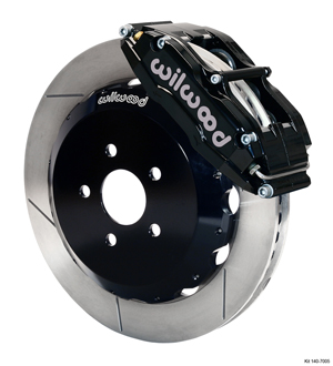 Wilwood Superlite 6 Big Brake Front Brake Kit (Hat) - Black Powder Coat Caliper - GT Slotted Rotor