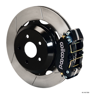 Wilwood Dynapro Rear Brake Kit For OE Parking Brake - Black Powder Coat Caliper - GT Slotted Rotor