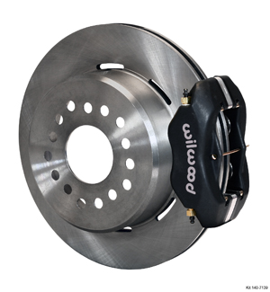 Wilwood Forged Dynalite Rear Parking Brake Kit - Black Anodize Caliper - Plain Face Rotor