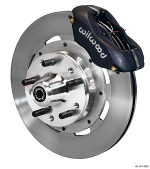 Wilwood Forged Dynalite Big Brake Front Brake Kit (Hub) - Black Anodize Caliper - Plain Face Rotor