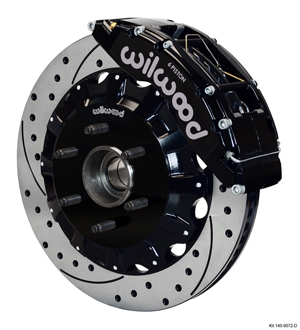 Wilwood TC6R Big Brake Truck Front Brake Kit - Black Powder Coat Caliper - SRP Drilled & Slotted Rotor
