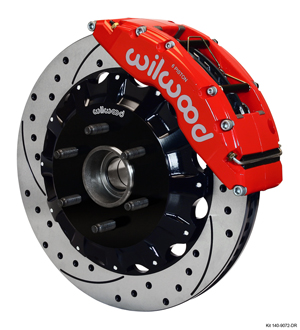 Wilwood TC6R Big Brake Truck Front Brake Kit - Red Powder Coat Caliper - SRP Drilled & Slotted Rotor