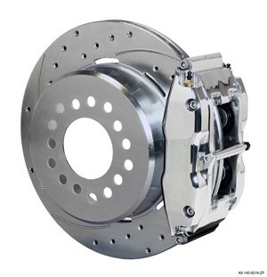 Wilwood Forged Narrow Superlite 4R Big Brake Rear Parking Brake Kit - Polish Caliper - SRP Drilled & Slotted Rotor