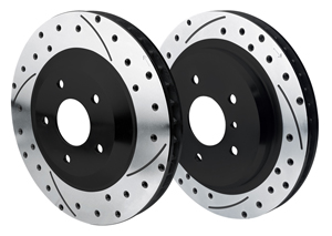 Wilwood Promatrix Front and Rear Replacement Rotor Kit - SRP Dimpled & Slotted Rotor