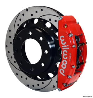 Wilwood TC6R Big Brake Truck Rear Brake Kit - Red Powder Coat Caliper - SRP Drilled & Slotted Rotor