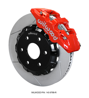 Wilwood AERO6 Big Brake Truck Front Brake Kit - Red Powder Coat Caliper - GT Slotted Rotor