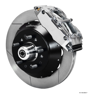 Wilwood Forged Narrow Superlite 6R Big Brake Front Brake Kit (Hub) - Polish Caliper - GT Slotted Rotor