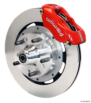 Wilwood Forged Dynalite Big Brake Front Brake Kit (Hub) - Red Powder Coat Caliper - Plain Face Rotor