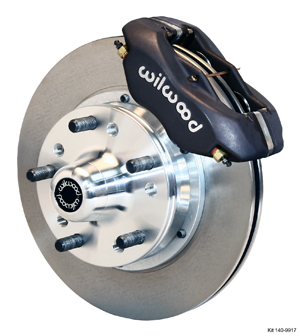Wilwood Forged Dynalite Pro Series Front Brake Kit - Black Anodize Caliper - Plain Face Rotor
