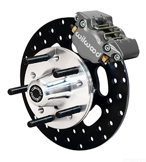 Wilwood Dynapro Single Front Drag Brake Kit - Type III Ano Caliper - Drilled Rotor