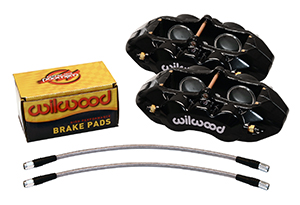 Wilwood D8-4 Front Replacement Caliper Kit - Black Powder Coat Caliper