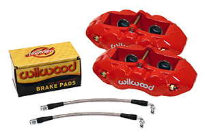 Wilwood D8-4 Rear Replacement Caliper Kit - Red Powder Coat Caliper