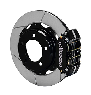 Wilwood Dynapro Rear Brake Kit For OE Parking Brake - Black Powder Coat Caliper - SRP Drilled & Slotted Rotor