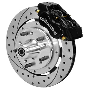 Wilwood Forged Dynalite Pro Series Front Brake Kit - Black Powder Coat Caliper - SRP Drilled & Slotted Rotor