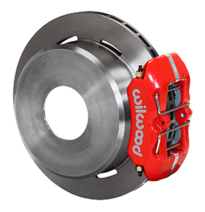 Wilwood Forged Dynapro Low-Profile Rear Parking Brake Kit - Red Powder Coat Caliper - Plain Face Rotor