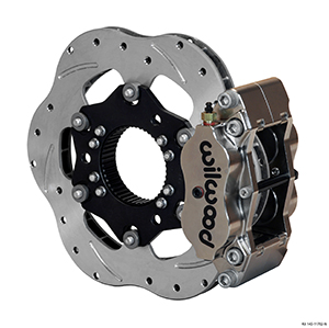 Wilwood Billet Narrow Dynalite Radial Mount Sprint Inboard Brake Kit - Nickel Plate Caliper - Drilled Rotor