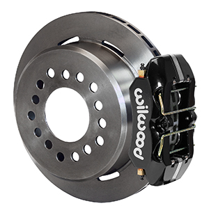 Wilwood Forged Dynapro Low-Profile Rear Parking Brake Kit - Black Powder Coat Caliper - Plain Face Rotor