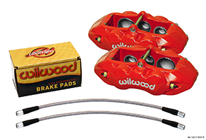 Wilwood D8-6 Front Replacement Caliper Kit - Red Powder Coat Caliper