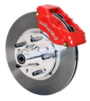 Wilwood Forged Dynalite Pro Series Front Brake Kit - Red Powder Coat Caliper - Plain Face Rotor