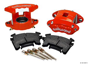 Wilwood D154 Front Caliper Kit - Red Powder Coat Caliper