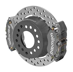 Wilwood Dynapro Dual SA Lug Drive Dynamic Rear Drag Brake Kit - Type III Ano Caliper - Drilled Rotor
