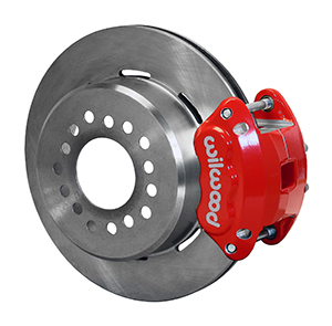 Wilwood D154 Rear Parking Brake Kit - Red Powder Coat Caliper - Plain Face Rotor