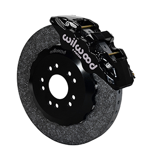 Wilwood AERO6 WCCB Carbon-Ceramic Big Brake Front Brake Kit - Black Powder Coat Caliper - Plain Face Rotor
