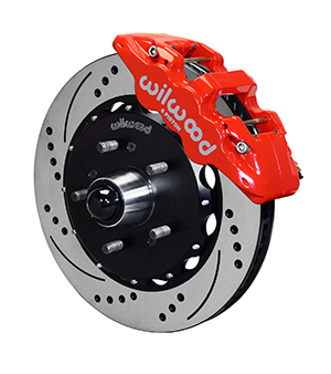 Wilwood AERO6 Big Brake Truck Front Brake Kit - Red Powder Coat Caliper - SRP Drilled & Slotted Rotor