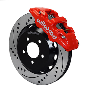 Wilwood AERO6 Big Brake Front Brake Kit - Red Powder Coat Caliper - SRP Drilled & Slotted Rotor