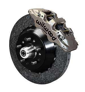Wilwood AERO6 WCCB Carbon-Ceramic Big Brake Front Brake Kit - Nickel Plate Caliper - Plain Face Rotor