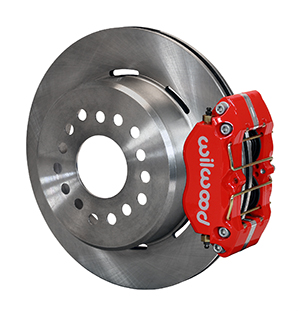 Wilwood Dynapro Dust-Boot Rear Parking Brake Kit - Red Powder Coat Caliper - Plain Face Rotor