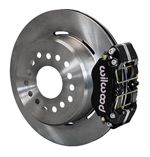 Wilwood Dynapro Dust-Boot Rear Parking Brake Kit - Black Powder Coat Caliper - Plain Face Rotor
