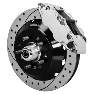 Wilwood Forged Narrow Superlite 6R Big Brake Front Brake Kit (Hub) - Polish Caliper - SRP Drilled & Slotted Rotor