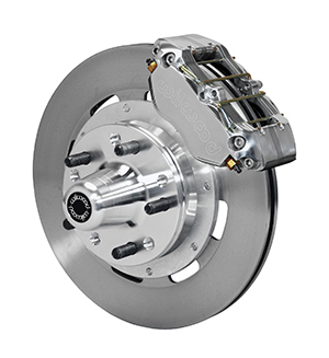 Wilwood Dynapro Dust-Boot Big Brake Front Brake Kit (Hub) - Polish Caliper - Plain Face Rotor