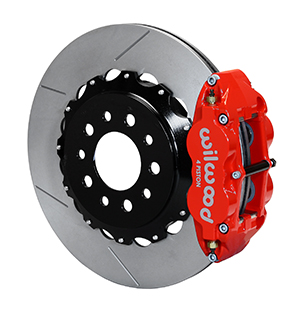 Wilwood Forged Narrow Superlite 4R Big Brake Rear Kit - Red Powder Coat Caliper - GT Slotted Rotor