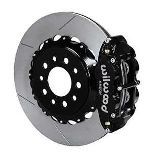 Wilwood Forged Narrow Superlite 4R Big Brake Rear Kit - Black Powder Coat Caliper - GT Slotted Rotor