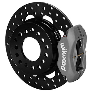 Wilwood Forged Dynalite Rear Drag Brake Kit - Type III Ano Caliper - Drilled Rotor
