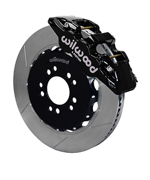 Wilwood AERO6 Big Brake Front Brake Kit - Black Powder Coat Caliper - GT Slotted Rotor