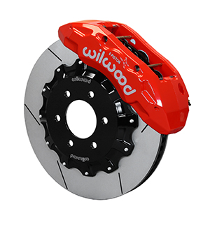Wilwood TX6R Big Brake Truck Front Brake Kit - Red Powder Coat Caliper - GT Slotted Rotor