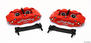 Wilwood Forged Narrow Superlite 4R Caliper and Bracket Upgrade Kit for Corvette C5-C6 - Red Powder Coat Caliper