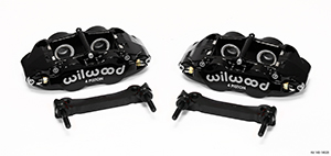 Wilwood Forged Narrow Superlite 4R Caliper and Bracket Upgrade Kit for Corvette C5-C6 - Black Powder Coat Caliper