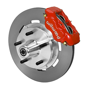 Wilwood Forged Dynalite Big Brake Front Brake Kit (5 x 5 Hub) - Red Powder Coat Caliper - Plain Face Rotor