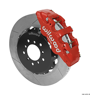 Wilwood AERO6 Big Brake Front Brake Kit - Red Powder Coat Caliper - GT Slotted Rotor