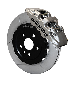 Wilwood AERO6 Big Brake Front Brake Kit (Race) - Nickel Plate Caliper - GT Slotted Rotor