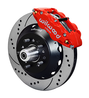 Wilwood Forged Narrow Superlite 6R Dust-Seal Big Brake Front Brake Kit (Hub) - Red Powder Coat Caliper - SRP Drilled & Slotted Rotor