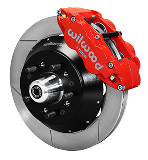 Wilwood Forged Narrow Superlite 6R Dust-Seal Big Brake Front Brake Kit (Hub) - Red Powder Coat Caliper - GT Slotted Rotor