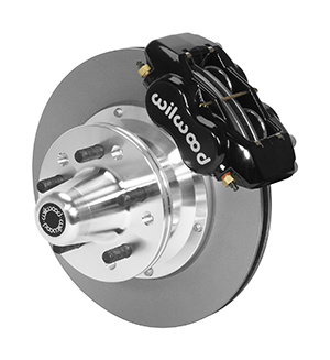 Wilwood Forged Dynalite Pro Series Front Brake Kit - Black Powder Coat Caliper - Plain Face Rotor