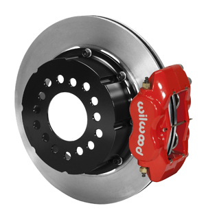 Wilwood Forged Dynalite Pro Series Rear Brake Kit - Red Powder Coat Caliper - Plain Face Rotor