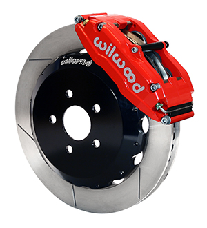 Wilwood Superlite 6 Big Brake Front Brake Kit (Hat) - Red Powder Coat Caliper - GT Slotted Rotor
